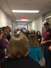 crowded hallway